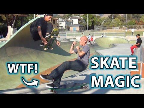 INSANE Skateboard Trick! Magic, Prank & Illusion!
