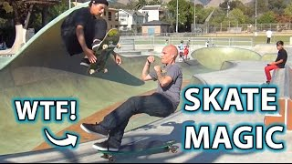 INSANE Skate Park Trick!  Magic, Prank or Illusion?