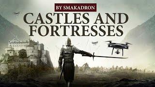 Фото Замки и Крепости снятые на дрон 4К  Castles And Fortresses Drone Video 4К