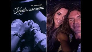 Big Brother Tyler and Angela Rummans holding hands enjoy in Keith concert together