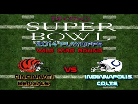 "Tecmo Super Bowl ""2014"" Playoffs Bengals vs Colts"
