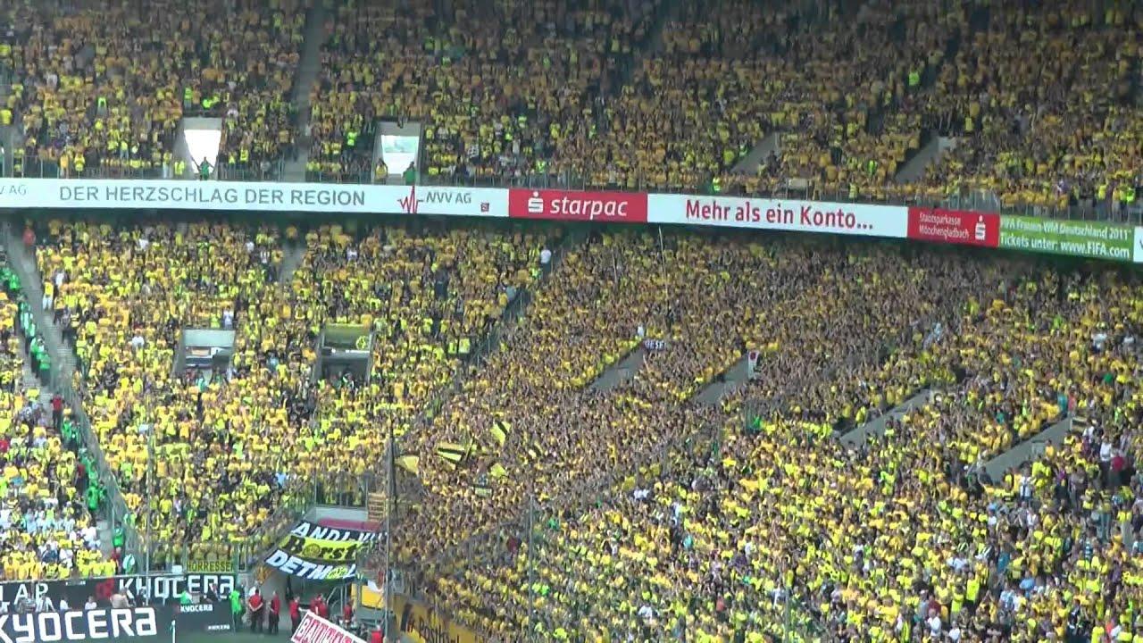 Gladbach - BVB Gelbe Wand Borussia Dortmund Mönchengladbach 1-0