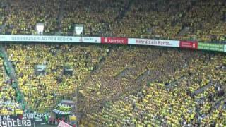 Gladbach - BVB Stimmung Gelbe Wand Borussia Dortmund Mönchengladbach 1-0