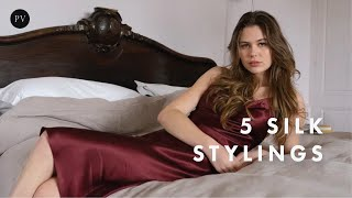 How to Style A Silk Dress: 5 Elegant Parisian Looks | Julie Tuzet | Parisian Vibe