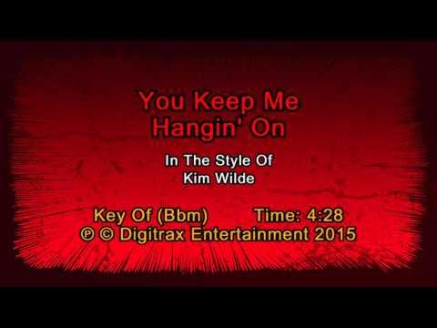 Kim Wilde - You Keep Me Hangin' On (Backing Track)