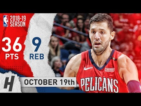 Nikola Mirotic Full Highlights Pelicans vs Kings 2018.10.19 - 36 Pts, 9 Reb, CRAZY