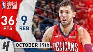 Nikola Mirotic Full Highlights Pelicans vs Kings 2018.10.19 - 36 Pts, 9 Reb, CRAZY