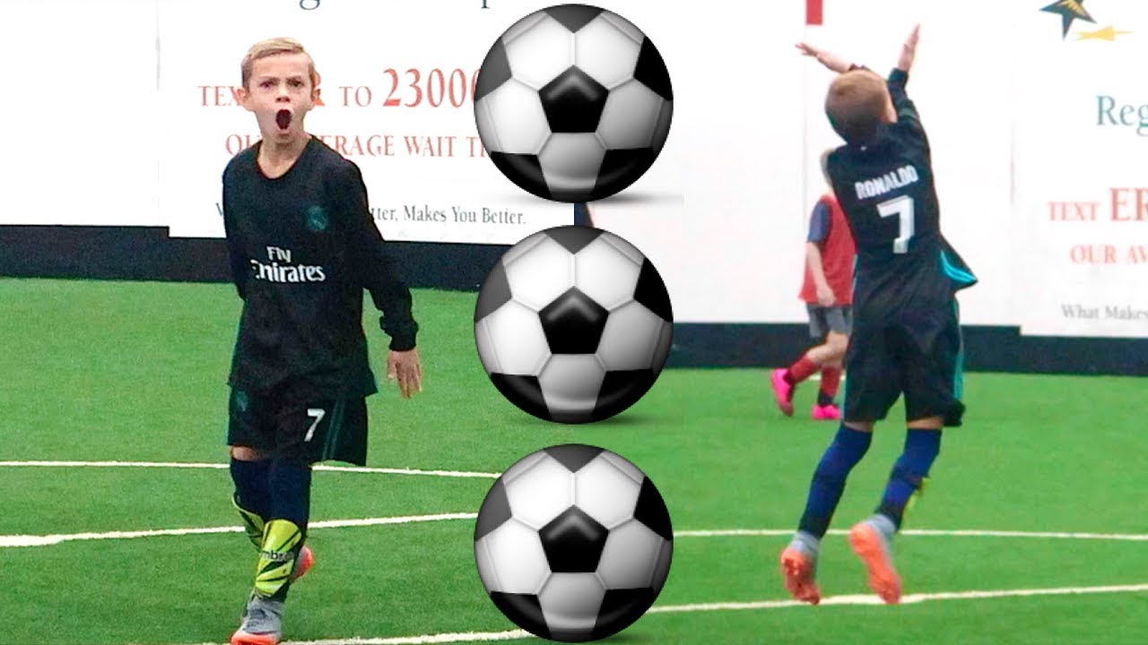 Boy Scores 3 Soccer Goals in 1 Soccer Game! HAT TRICK! ⚽️ ⚽️ ⚽️