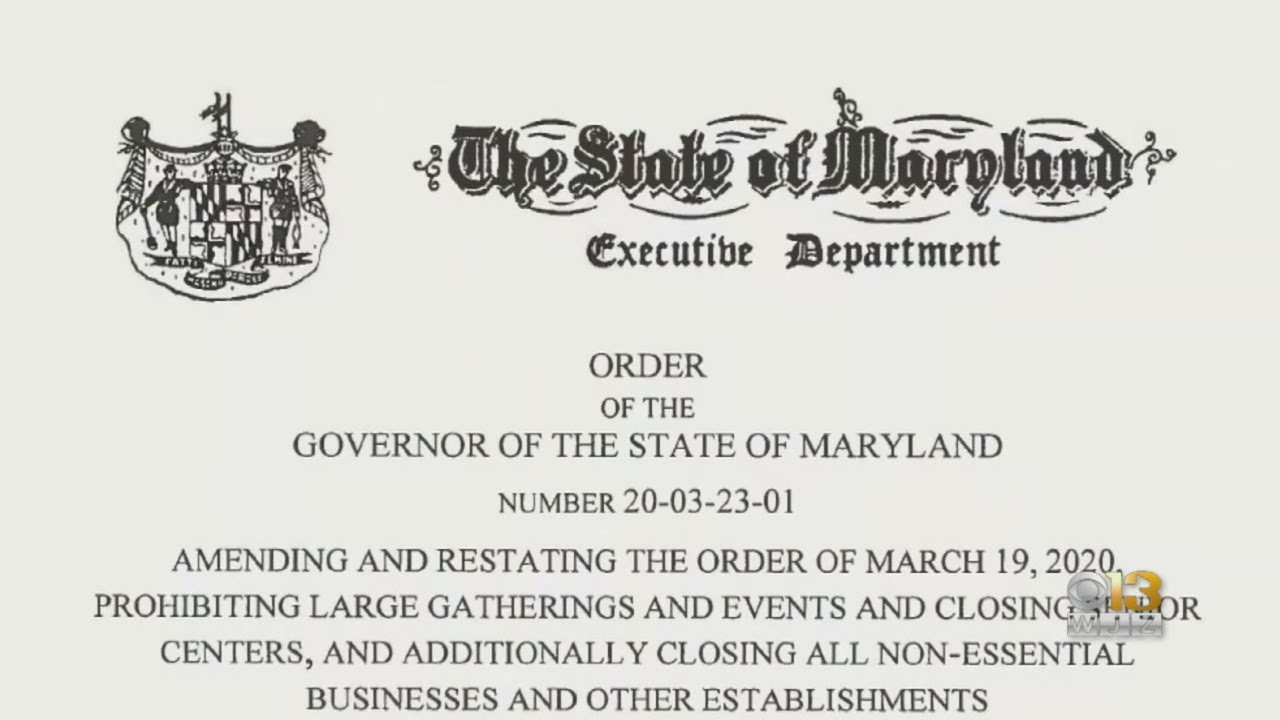Larry Hogan, Maryland governor, describes stay-at-home order as ...