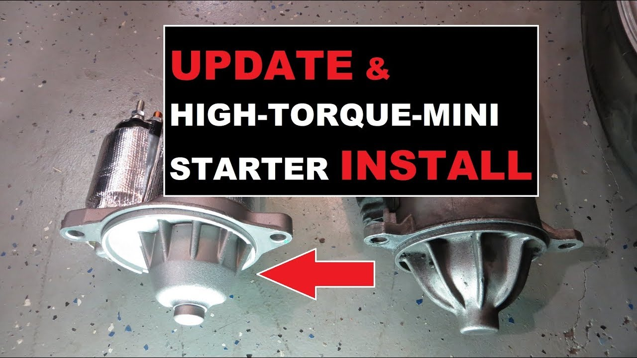 medium resolution of 1986 mustang gt project mini starter install and update