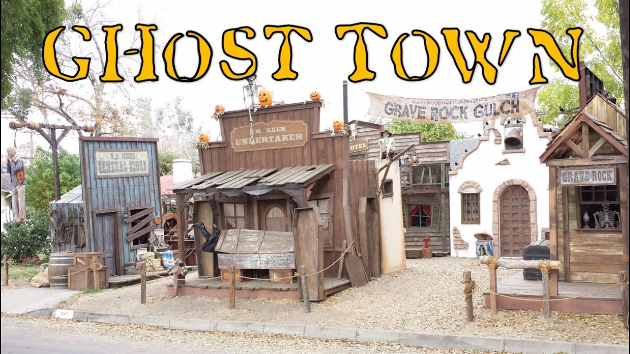 halloween ghost town home haunt | haunted western theme decorating