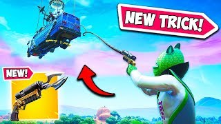 *SECRET* BAT GRAPPLE TRICK IS INSANE!!  - Fortnite Funny Fails and WTF Moments! #689