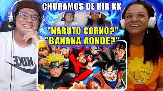 MINHA MÃE REAGINDO A Goku, Gohan e Bardock VS. Naruto, Boruto e Minato | Duelo de Titãs | 7 Minutoz