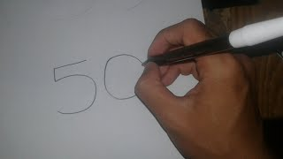 number 50 drawing lesson