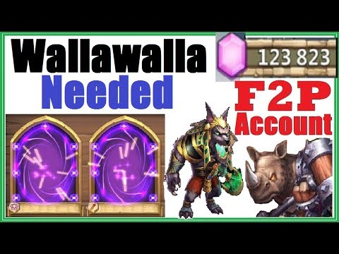 CRAZY LUCKY F2P Account With 120k Gems & ALL HEROES!  Castle Clash