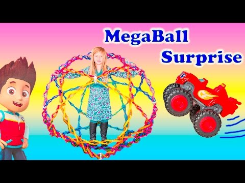 MEGABALL Nickelodeon Paw Patrol + Blaze +Sesame Street Magical Surpirse Megaball Video