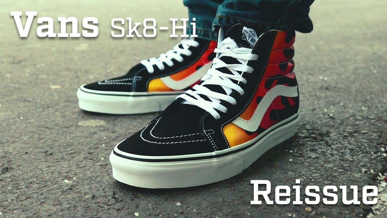 On Feet: Vans Flame Sk8 Hi Reissue