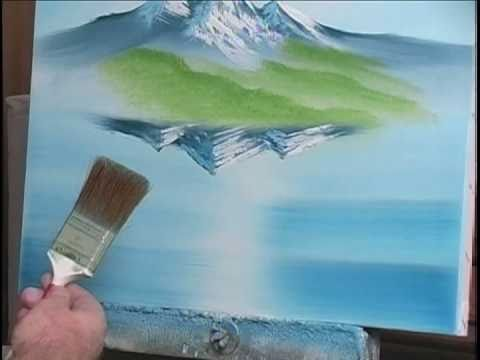 How to Paint Water with Mountains 7 of 19  YouTube