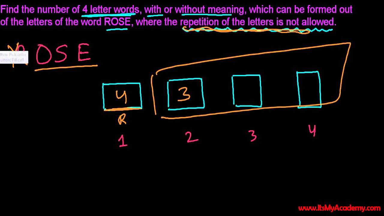 5 letter words with no repeating letters permutations amp combinations tutorials total ways to 18540