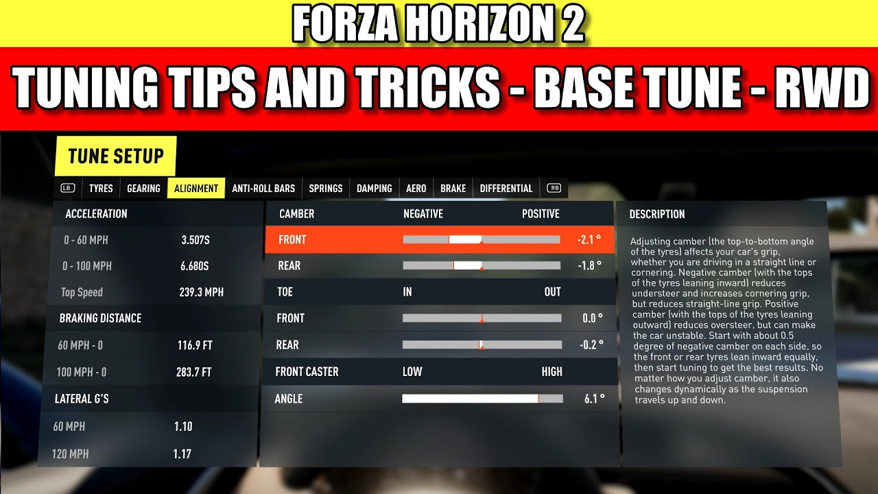forza horizon 2 tuning tutorial tips and tricks ep1 youtube. Black Bedroom Furniture Sets. Home Design Ideas