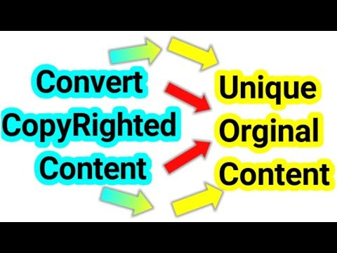 Convert Copyrighted Content into Unique original Content in Tamil