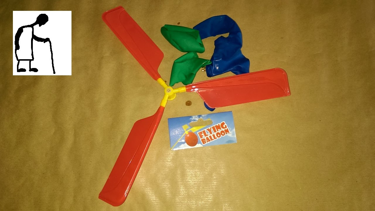 how to make a balloon helicopter