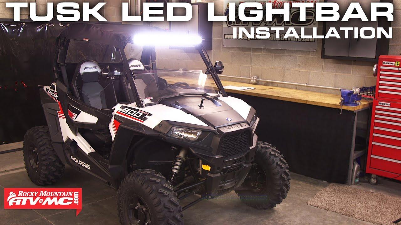 Led Light Bar Relay Wiring Diagram Outlet Tusk Install Rocky Mountain Atv Mc Youtube
