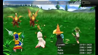 Final Fantasy 3 PC Fast Job Level Up