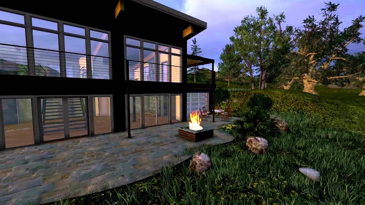 lumion 5 with real sounds nature modern architecture in us youtube