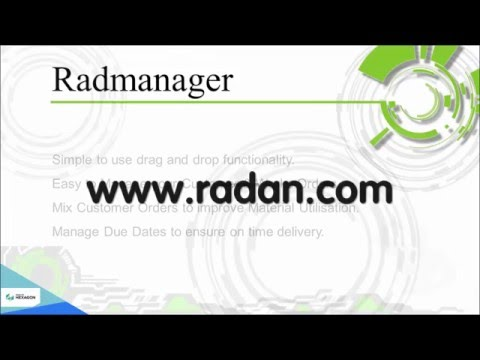 Radmanager from Radan - Transforming Customer Orders Into Nests