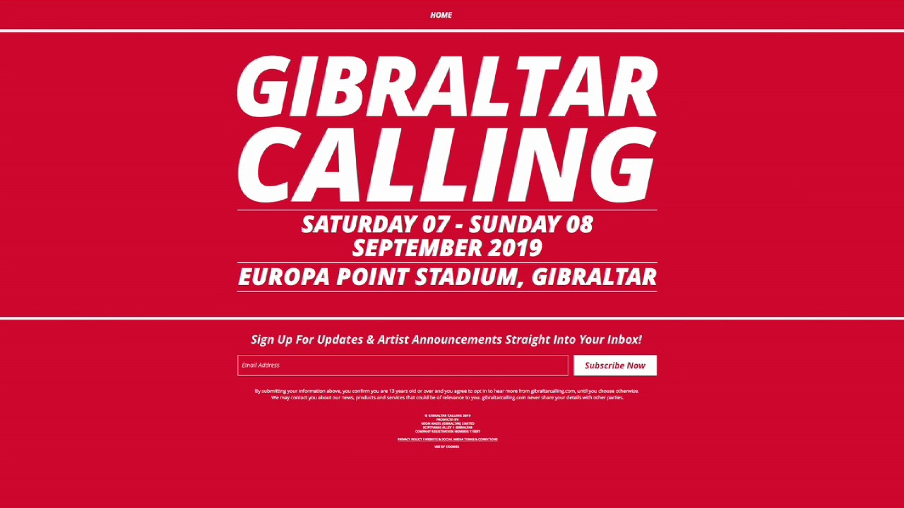 fa0ff89fa Gibraltar Calling .2019 dates   venues announced - 01 03 19 - YouTube