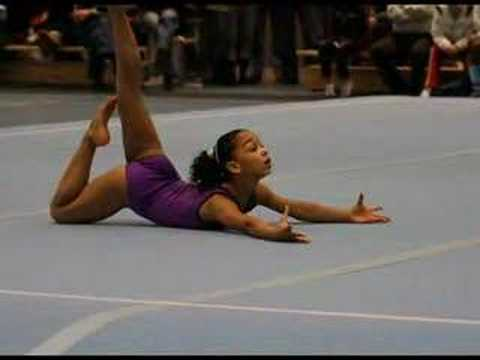 Young elite gymnast