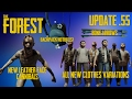 The Forest Update V0.55 HOTKEYS, ENEMIES IN CREATIVE, NEW HOODIE AND VEST