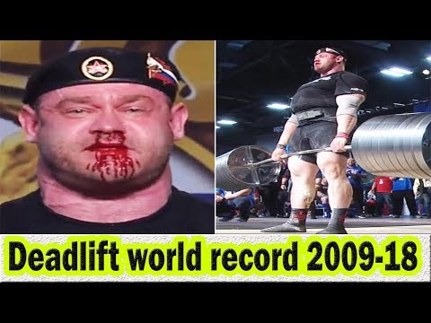 Top 10 deadlift world records from 2009 to 2018 (Hafthor Bjornsson ) FIGHT TO DEATH- Axegic Tv