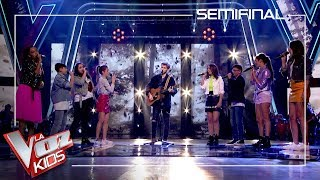 David Bisbal and Vanesa Martín's talents sing with Dani Fernández | Semi final | The Voice Kids 2019