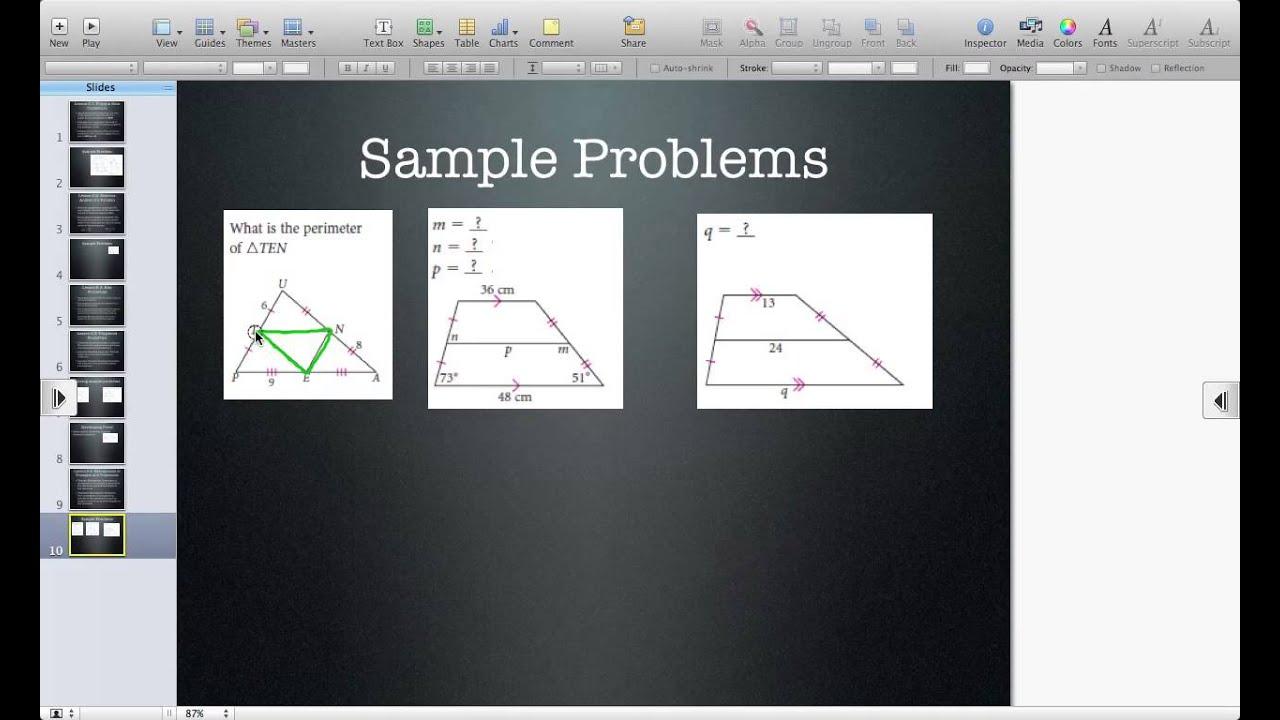 Uncategorized Midsegments Of Triangles Worksheet midsegments of triangles and trapezoids youtube trapezoids