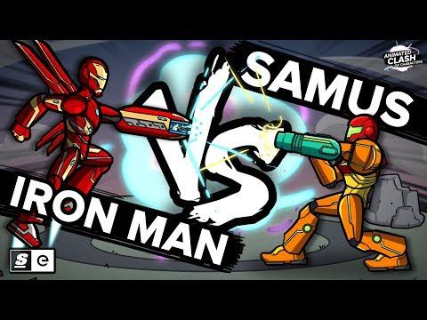 Samus vs Iron Man: Animated Clash of Characters
