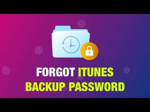 Forgot ITunes Backup Password? Recover/Unlock/Bypass It!