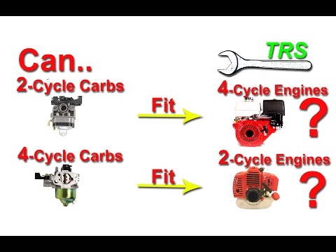 Can a 2-Stroke Cycle Carburetor Fit a 4-Stroke Cycle Engine? or Vice Versa?