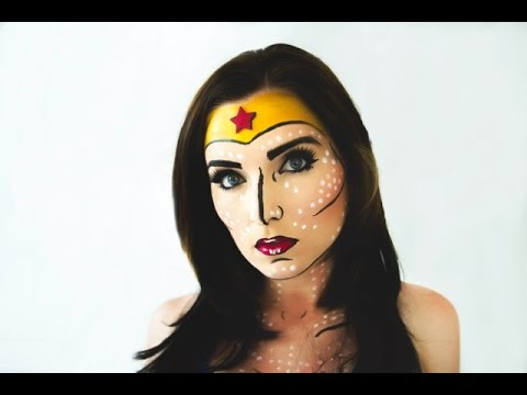 Pop Art Wonder Woman Makeup Tutorial - YouTube