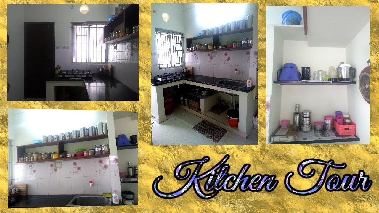 Kitchen Tour   Kitchen Organization tips for beginners in Tamil   Non  Modular Kitchen Organization