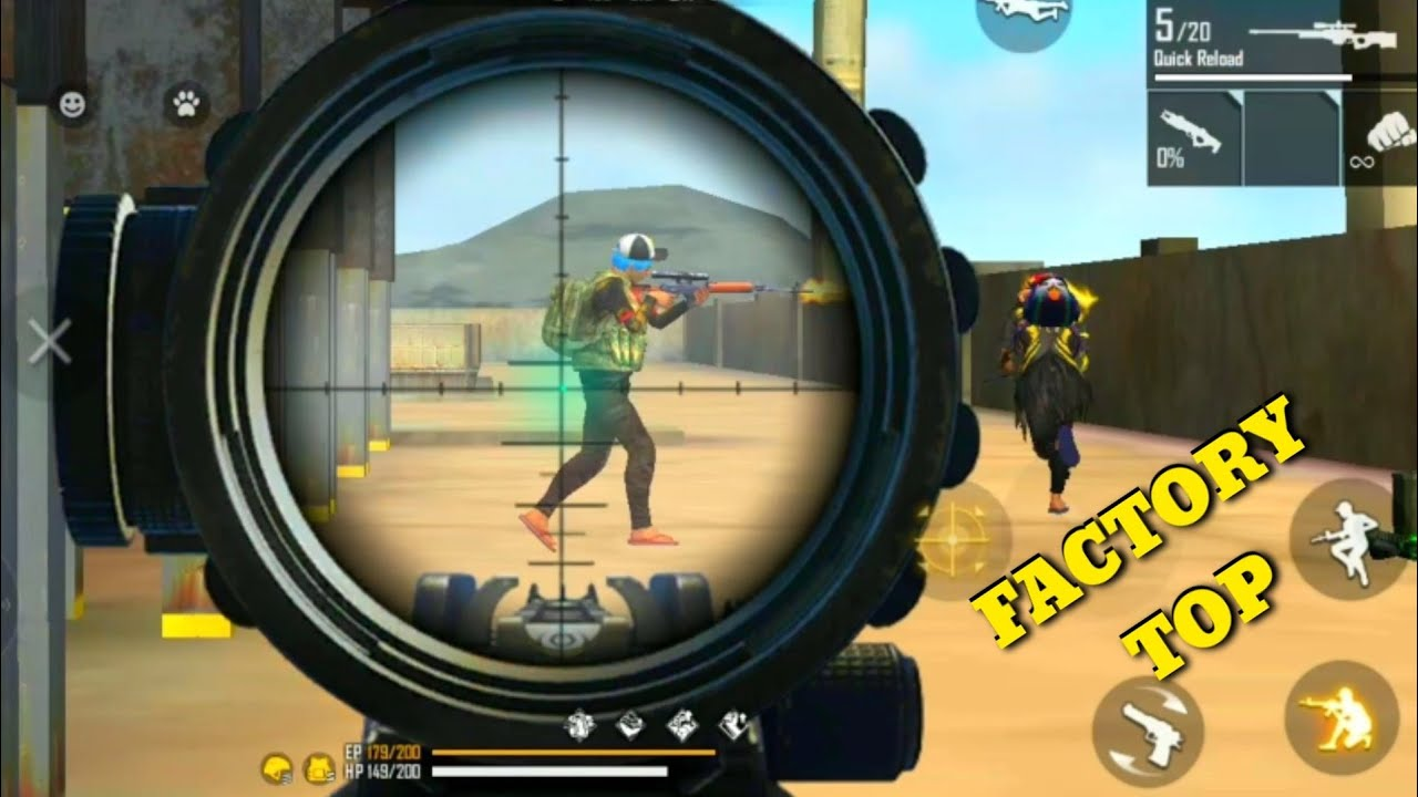 FREE FIRE FACTORY INSANE GAMEPLAY - FF FIST FIGHT ON FACTORY TOP - OVERPOWER HEAD [GARENA FREE FIRE]