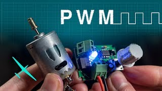 How PWM works | Controlling a DC motor with a homemade circuit