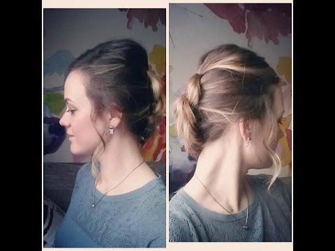 Объемная коса на короткие волосы