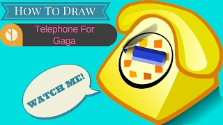 How To Draw Old Telephone For Gaga| How To Draw Old Telephone For Gaga For Kids|  Color Telephone