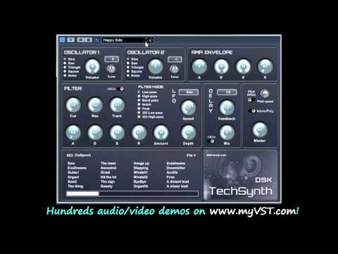 DSK TechSynth  - Free VST - myVST Demo