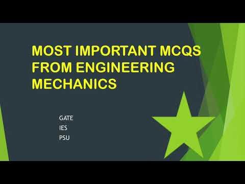 GATE QUESTIONS, ENGINEERING MECHANICS
