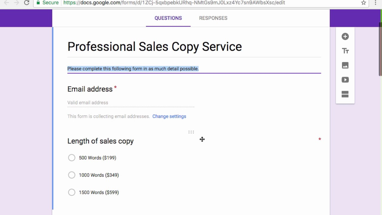 Using Google Forms To Automate & Customize Service Order Form ...