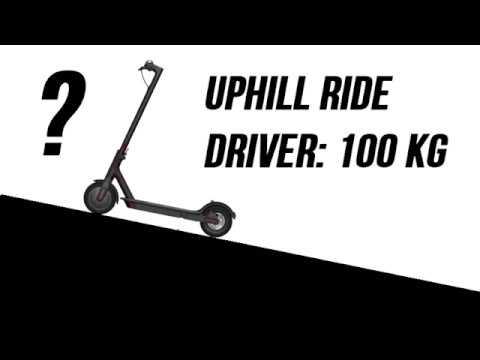 xiaomi m365 mijia uphill ride test driver 100 kg youtube. Black Bedroom Furniture Sets. Home Design Ideas