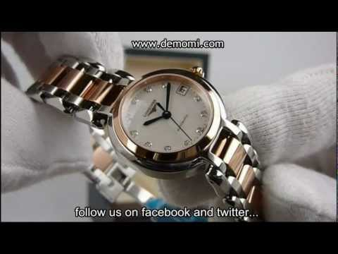 Longines 8.111.5.87.6 PrimaLuna ladies automatic, gold and steel, mother of pearl and diamonds dial